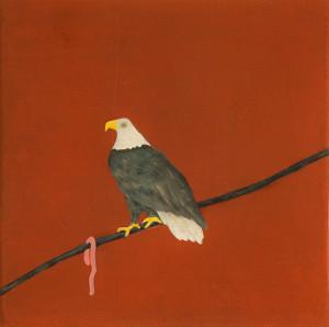 Adler, 2016Oil on Canvas, 40 x 40 cm(Neumann-Hug Collection)