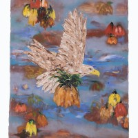 Eagle in the Field, 76 x 64 cm, oil on canvas