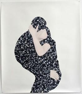 Untitled 2013Öl auf Papier, 140 x 120 cm