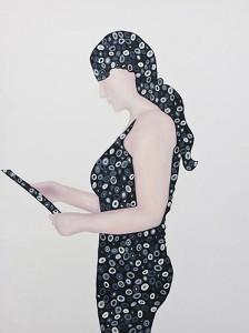 Untitled 2013Öl auf Papier, 140 x 120 cm (privat collection)