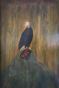 Adler, 2017Oil on Canvas, 120 x 75 cm
