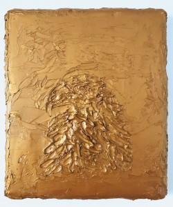 Gold II,  42 x 38 cm, oil on canvas  (Neumann-Hug Collection)
